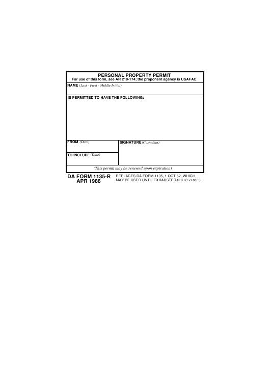 Download Fillable da Form 1135-R