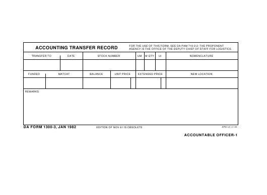 Download Fillable da Form 1300-3