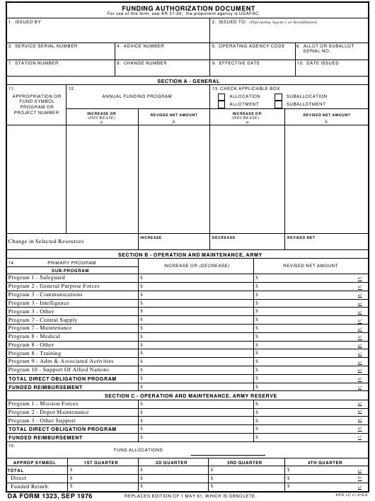 Download Fillable da Form 1323