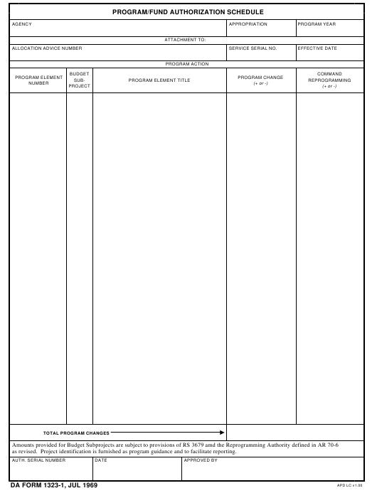 Download Fillable da Form 1323-1