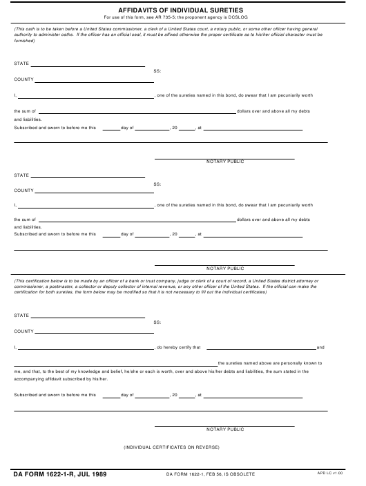 Download Fillable da Form 1622-1-R