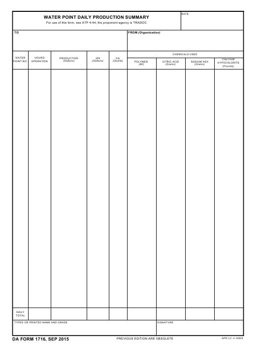 Download Fillable da Form 1716