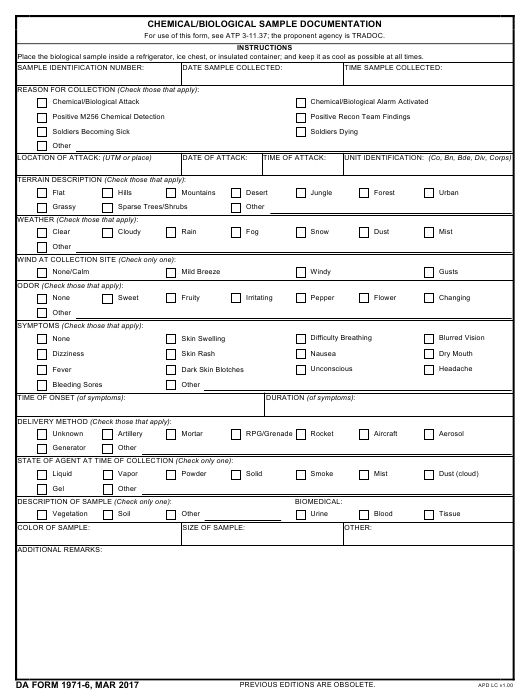 Download Fillable da Form 1971-6