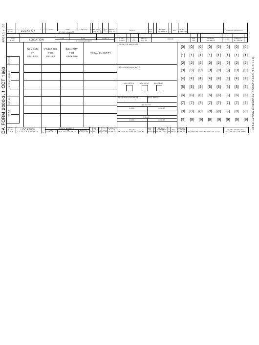 Download Fillable da Form 2000-3