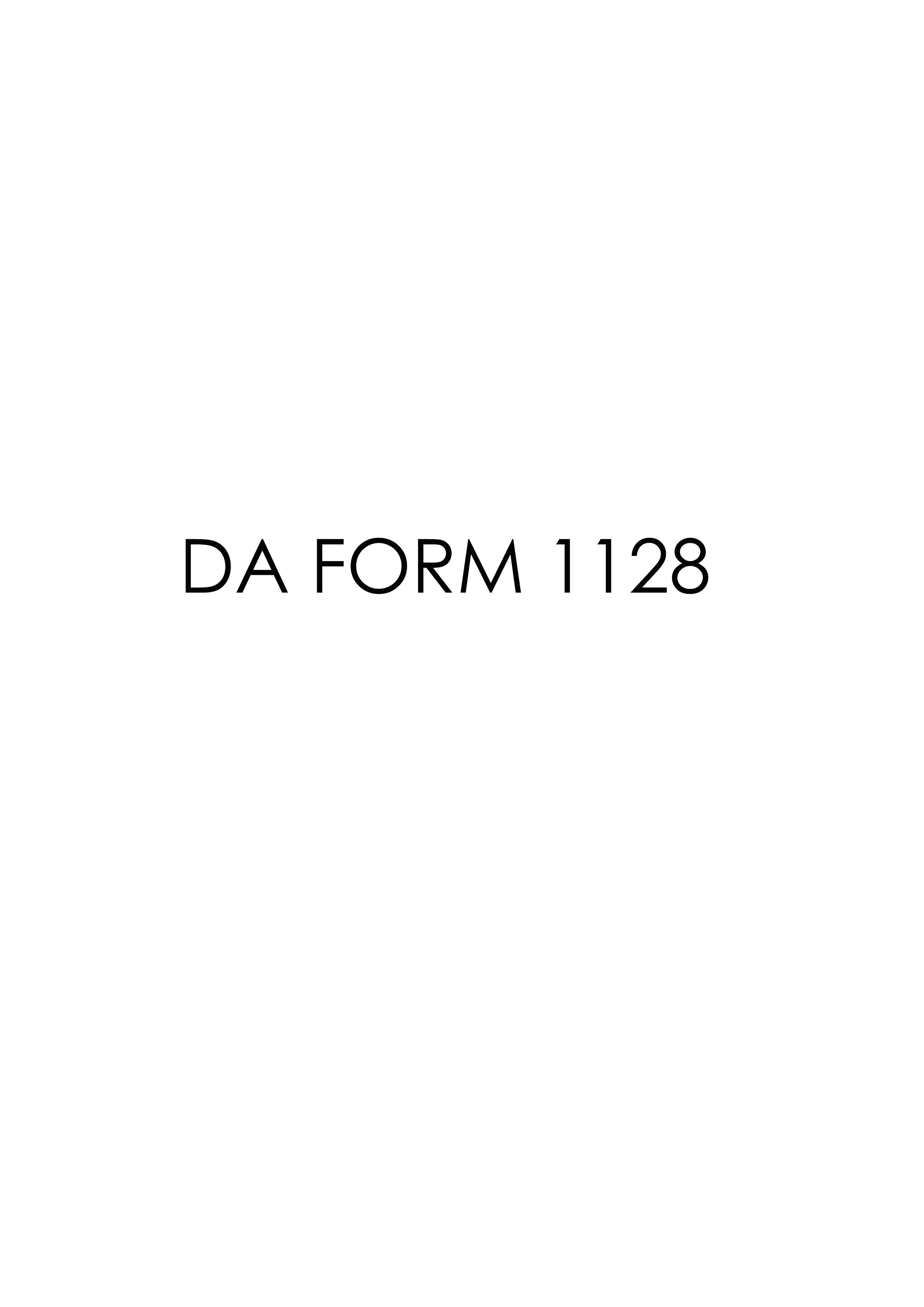 Download Fillable da Form 1128