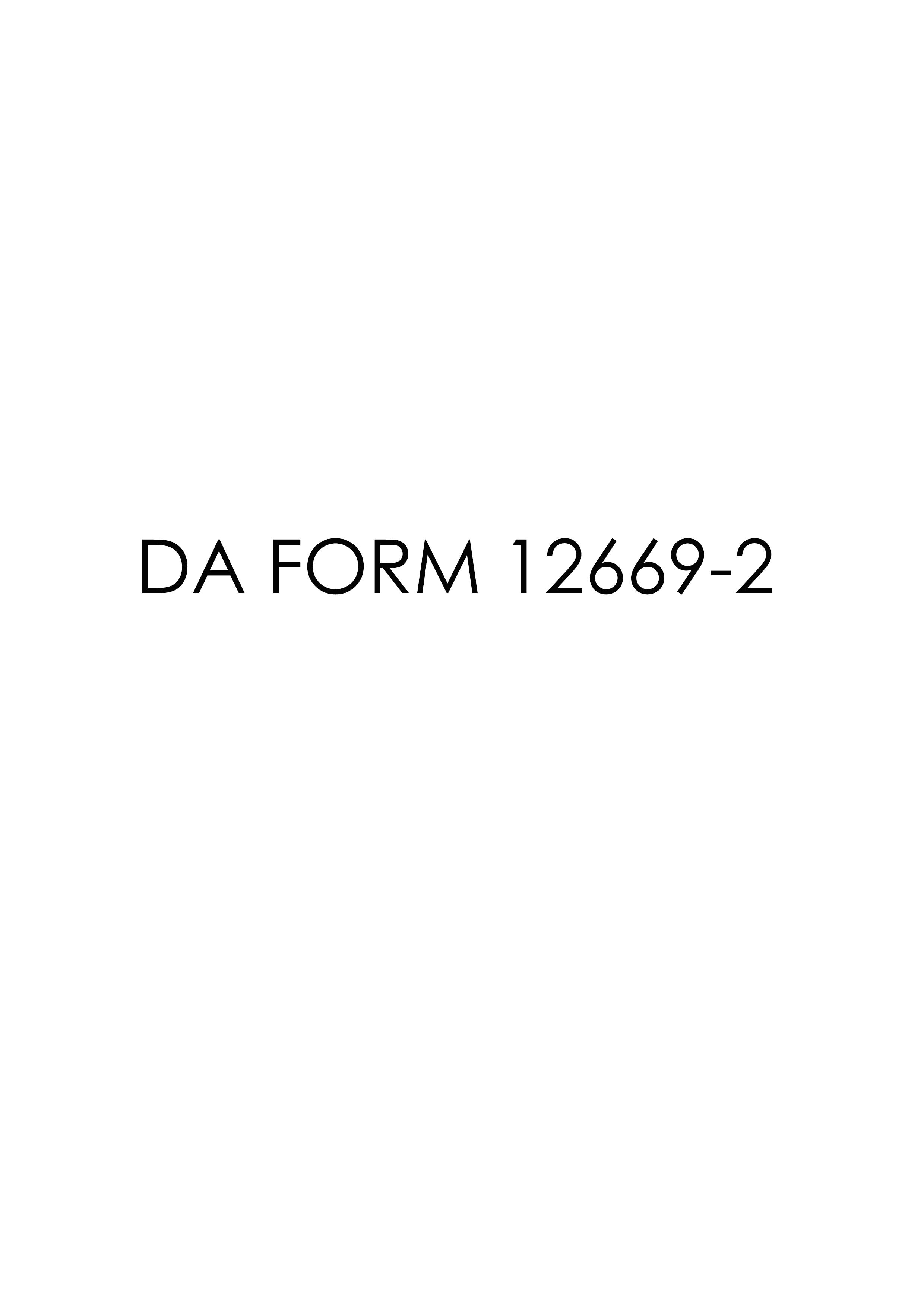 Download Fillable da Form 12669-2