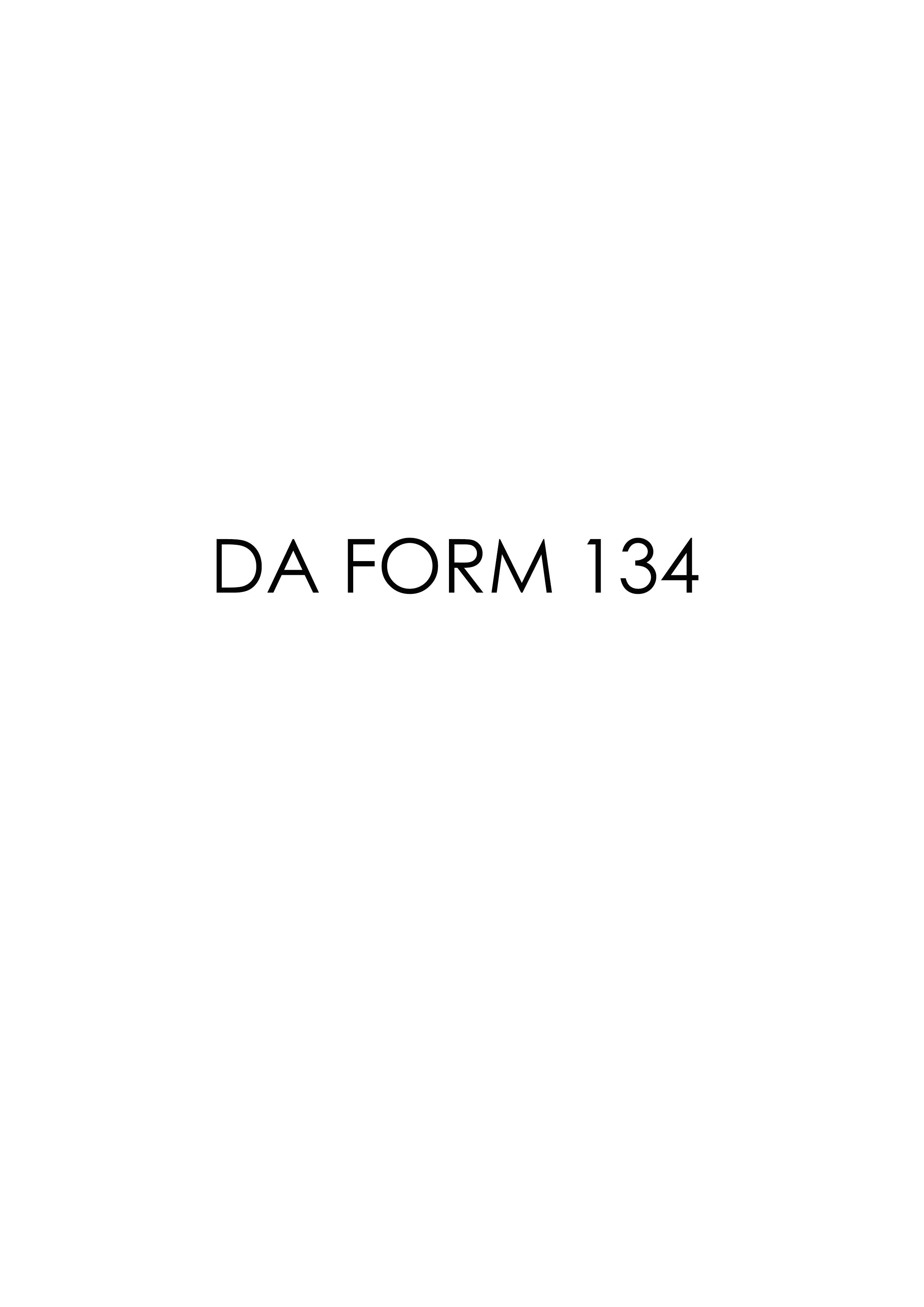 Download Fillable da Form 134