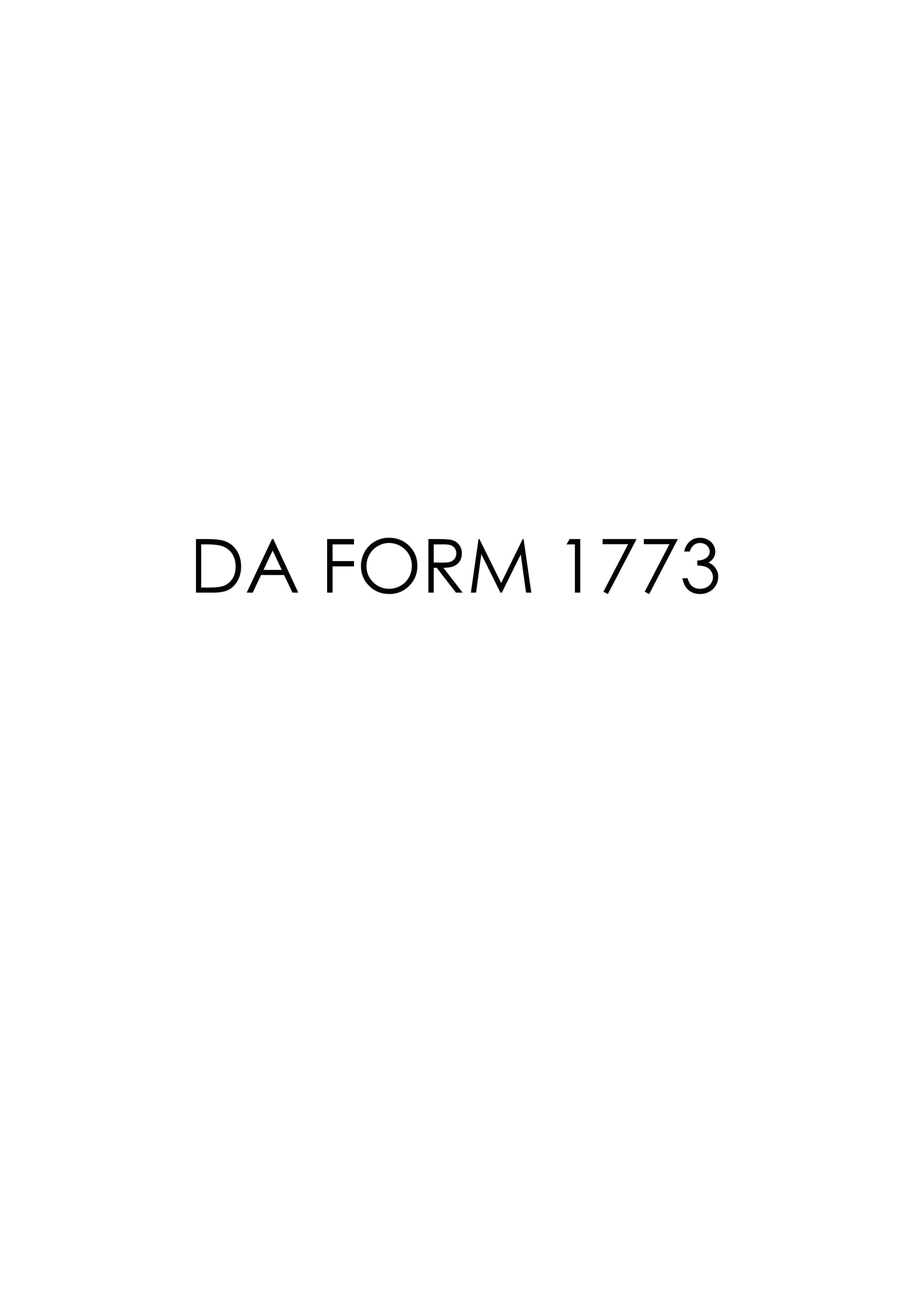 Download Fillable da Form 1773