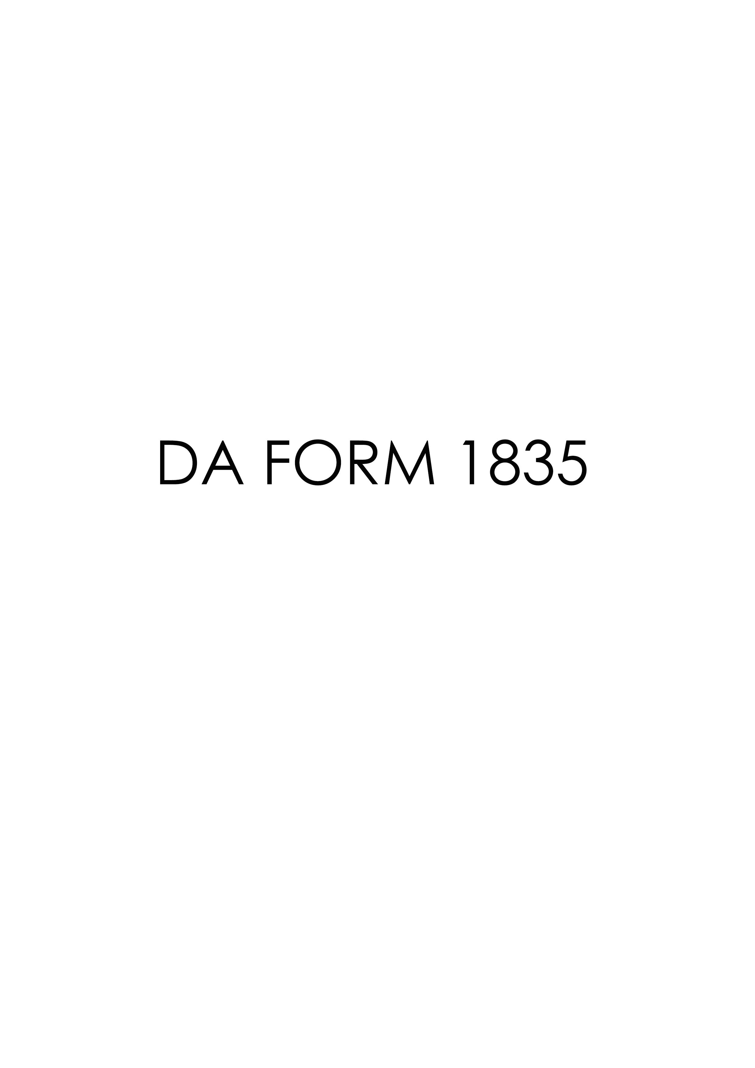 Download Fillable da Form 1835