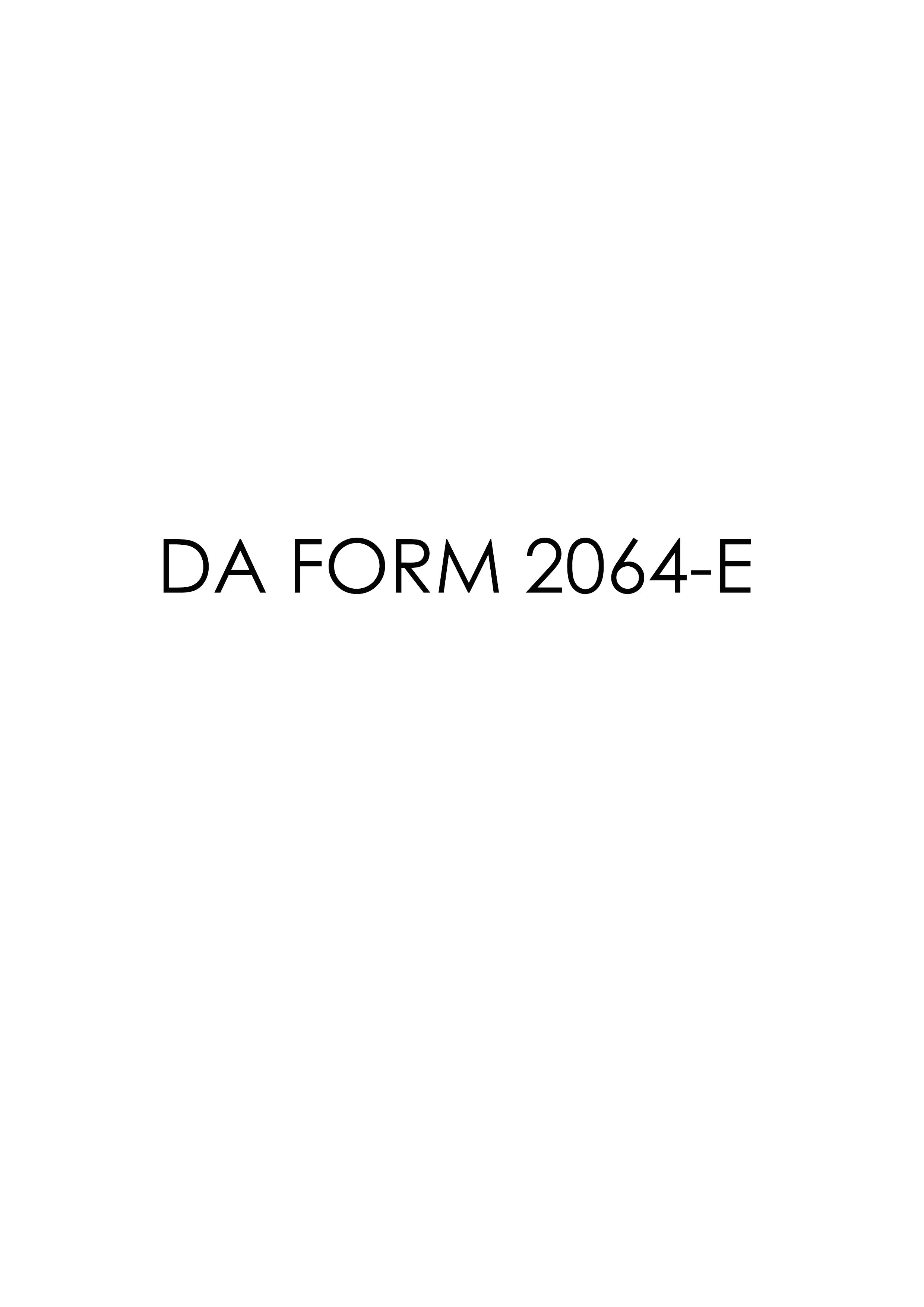 Download Fillable da Form 2064-E