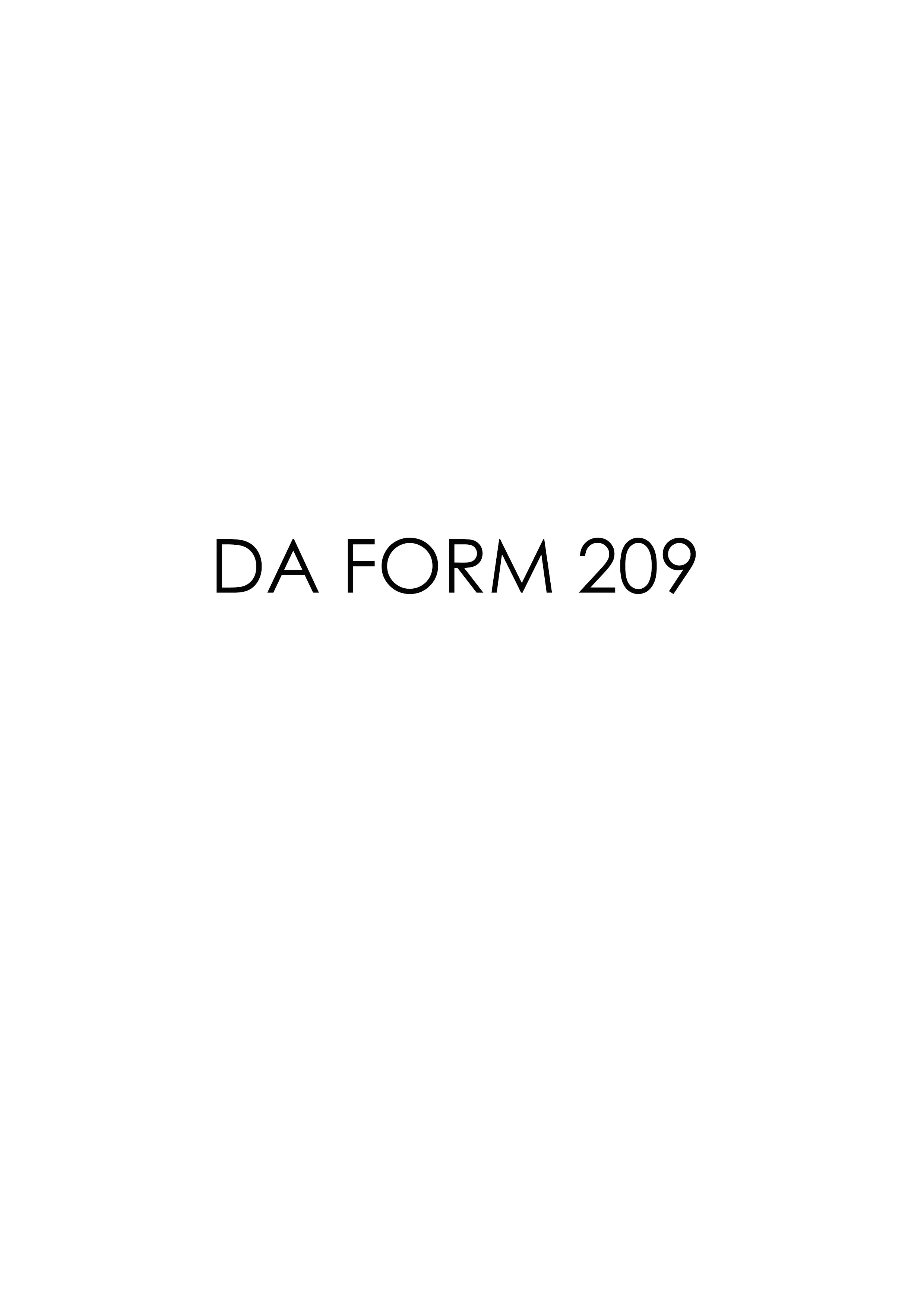 Download Fillable da Form 209
