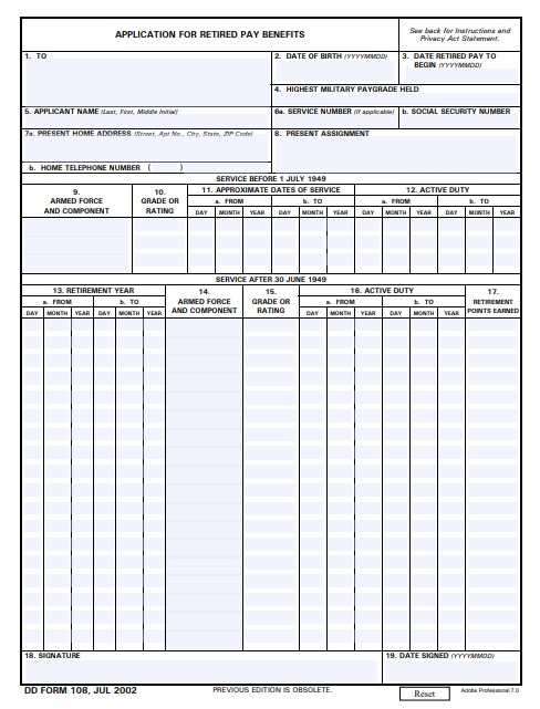 Download Fillable dd Form 108