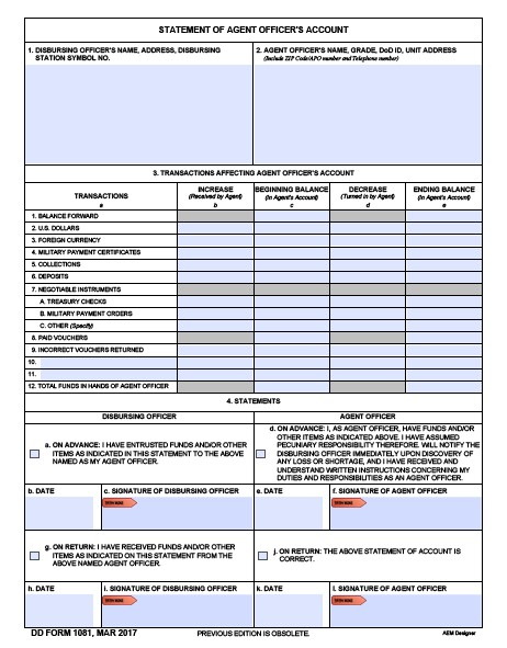 Download Fillable dd Form 1081