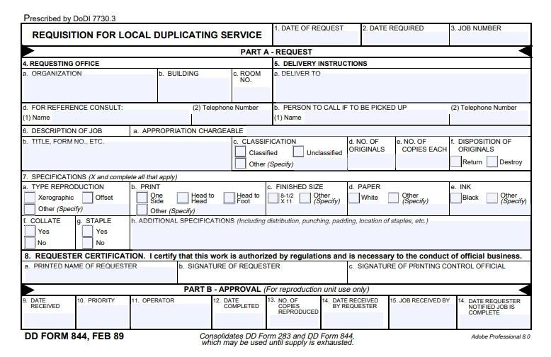 Download Fillable dd Form 844