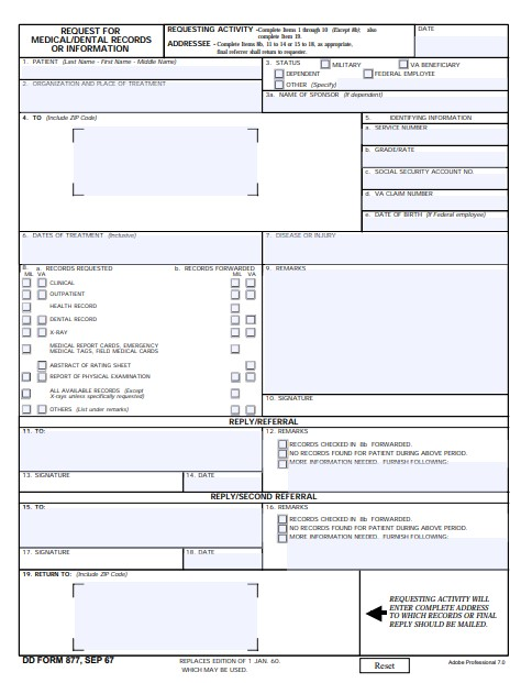 Download Fillable dd Form 877