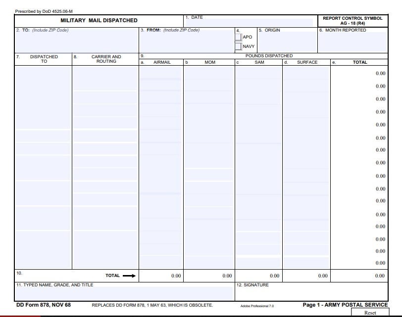 Download Fillable dd Form 878